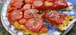 Tarta Tatín de tomates frescos